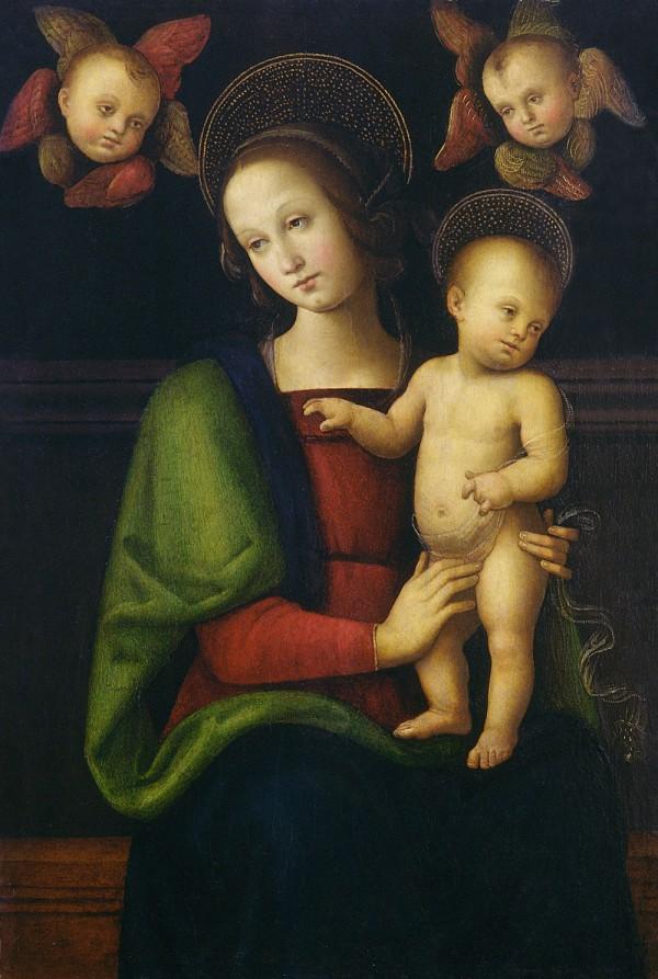 Madonna col Bambino e due cherubini