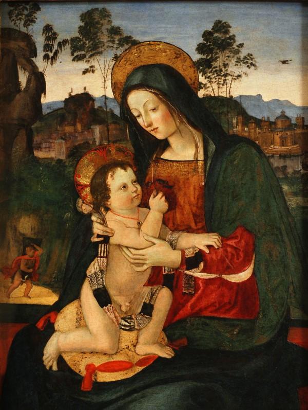 Madonna con Bambino in un paesaggio