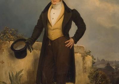 Ritratto di giovane gentiluomo sullo sfondo della città di Firenze