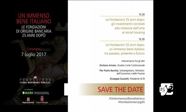 Amato, Baretta, Guzzetti: a Perugia si parla delle Fondazioni bancarie a 25 anni dalla nascita