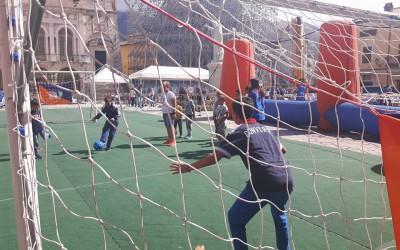 Norcia, piazza San Benedetto si trasforma in Villaggio dello Sport
