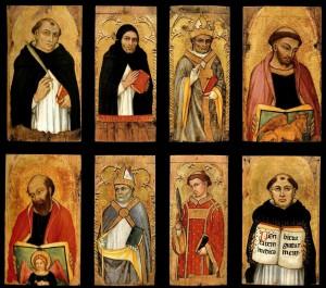 Taddeo di Bartolo, n. 8 tavolette dipinte (1)