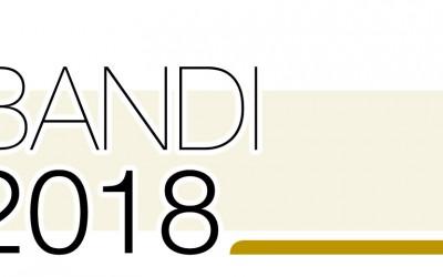 Contributi 2018, i bandi pubblicati e di prossima pubblicazione
