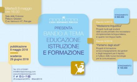 La Fondazione presenta i bandi destinati all'educazione e all'istruzione
