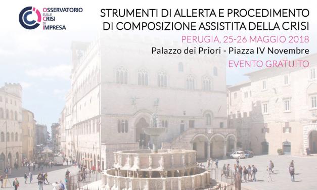 L'Osservatorio crisi d'impresa fa tappa per due giorni a Perugia