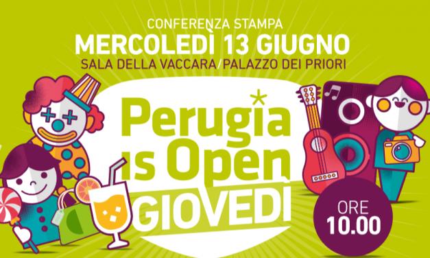 Perugia is open, tornano i giovedì che animano le vie e le piazze del centro storico