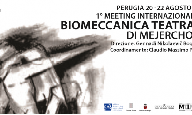 Biomeccanica teatrale, a Perugia dieci maestri per il primo meeting internazionale