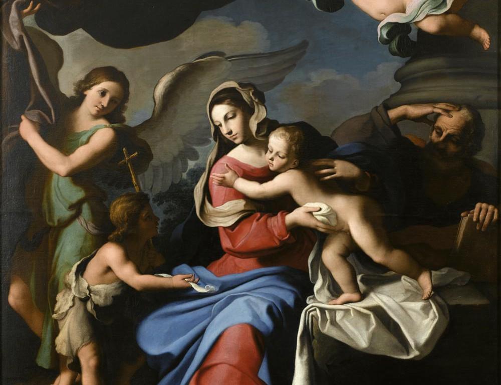 Sacra Famiglia con san Giovannino e due angeli