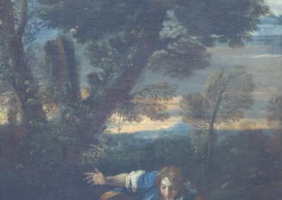 Paesaggio con Narciso che si rispecchia nell'acqua