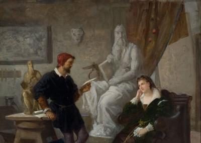 Michelangelo che legge dei versi a Vittoria Colonna