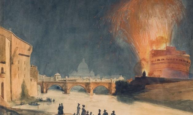 Veduta delle Girandola a Castel S. Angelo