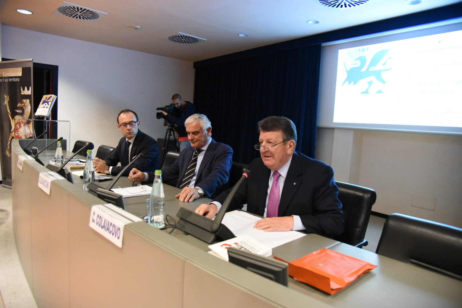 Il segretario Stazi, Il Presidente Bianconi, Il Presidente onorario Colaiacovo