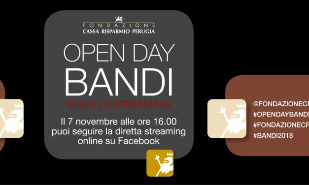 Open Day Bandi, la presentazione in diretta streaming