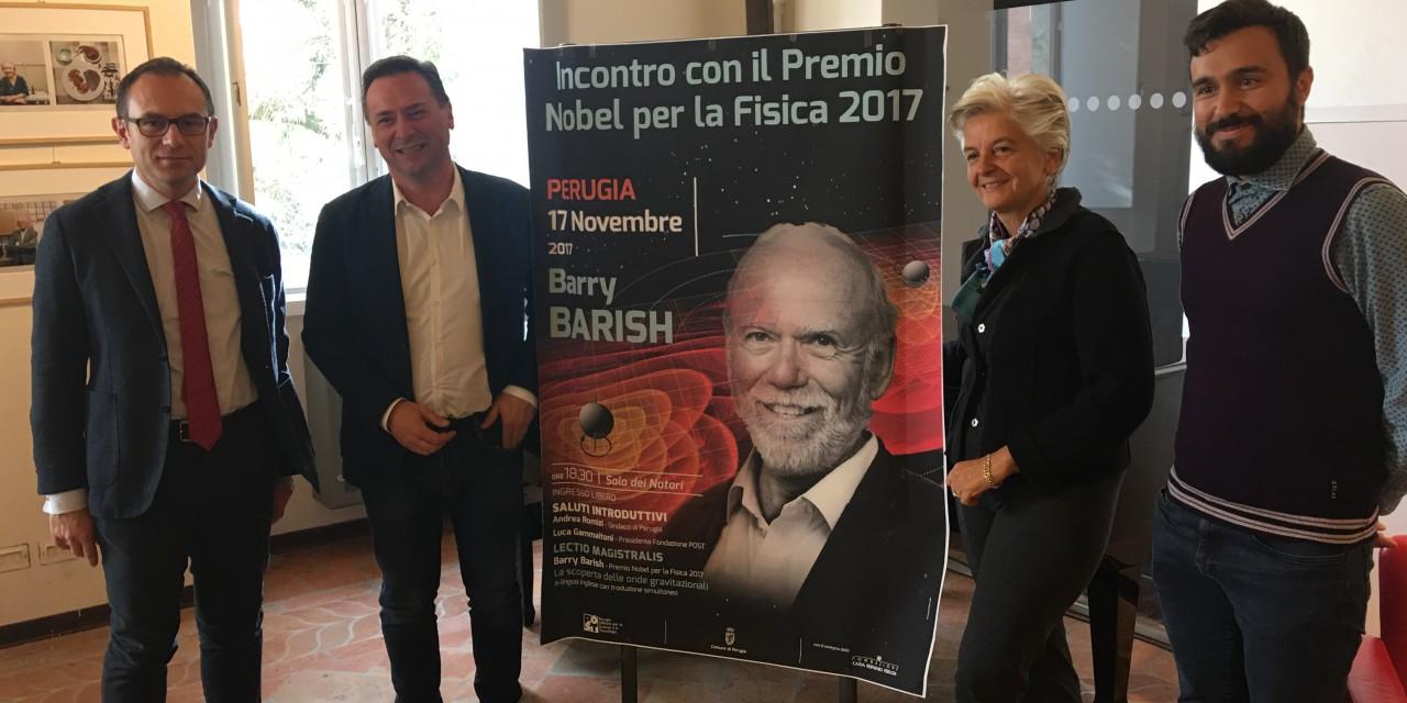 «Cacciatori di onde», a Perugia il Premio Nobel Barry Barish
