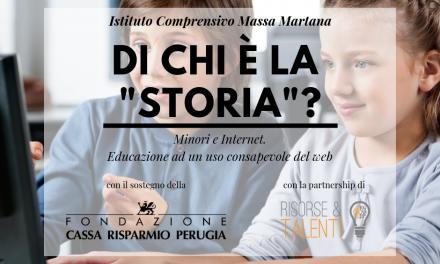 Di chi è la storia? Minori ed internet: educazione ad un uso consapevole del web