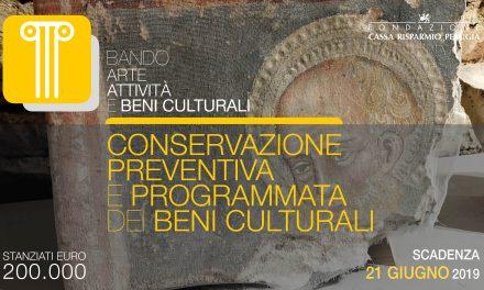 Arte, un bando per la Conservazione preventiva e programmata dei beni culturali