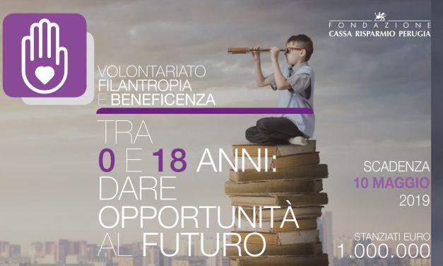 Dare opportunità al futuro, il bando 2019 per il welfare di comunità