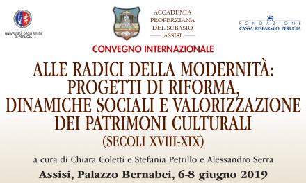 """""""Alle radici della modernità"""", un convegno internazionale ad Assisi"""