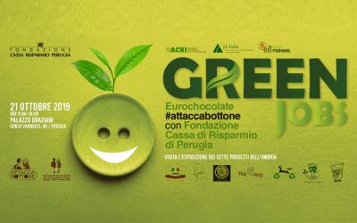 Green Jobs, Eurochocolate #attaccabottone con la Fondazione CRPG per valorizzare gli studenti umbri