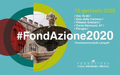 #Fondazione2020: presentazione bandi e progetti