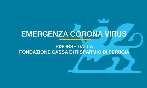 Emergenza coronavirus: risorse dalla Fondazione