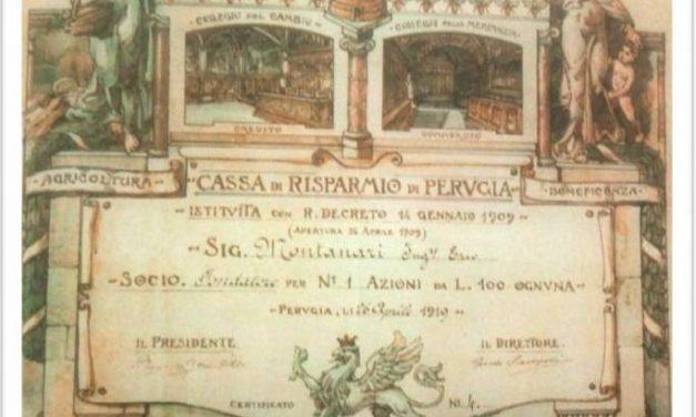 """111 anni fa """"rinasceva"""" a Perugia la Cassa di Risparmio"""