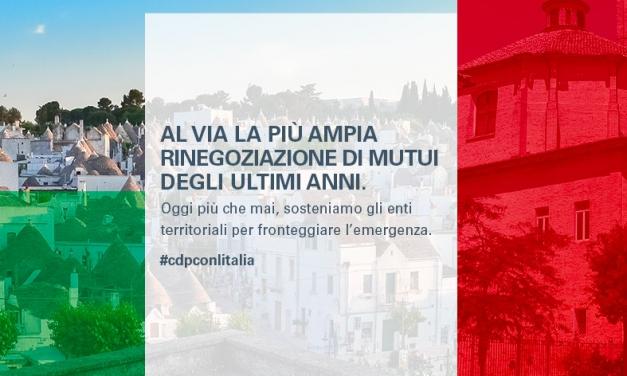 Rinegoziazione mutui enti locali: Cassa Depositi e Prestiti per l'emergenza Covid-19