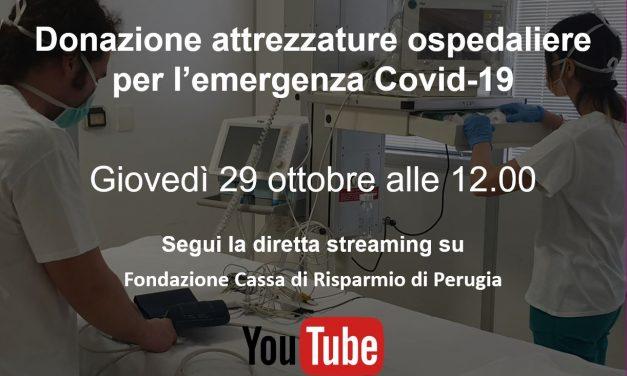 Donazione attrezzature ospedaliere per l'emergenza Covid-19