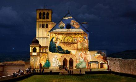 Il Natale di Assisi: gli affreschi di Giotto in videoproiezione sulla facciata della Basilica Superiore di San Francesco