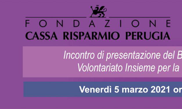 """Cesvol Umbria insieme a Fondazione Crpg organizzano un incontro di presentazione del bando """"Insieme per la comunità"""""""